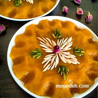 طرز تهیه حلوا با شیر,حلوای آرد گندم رزا منتظمی