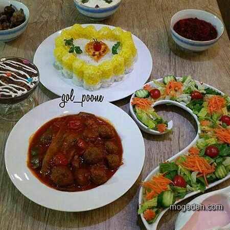 تزیین برنج با زرشک,تزیین پلو با زعفران