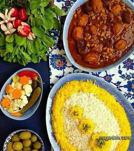 تزیین غذا خوشمزه,تزیین برنج ساده