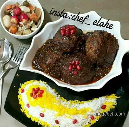 سفره آرایی ایرانی,تزیین غذای ایرانی,تزیین میز غذا