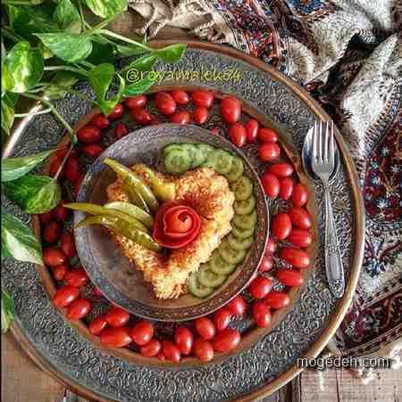 عکس تزیین برنج,تزیین غذای ایرانی