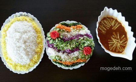 سفره آرایی ایرانی,سفره ارایی جدید,تزیین غذا و سالاد