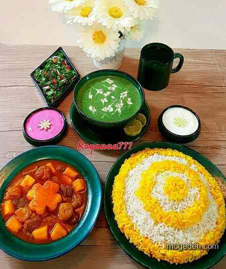 تزیین غذا و سالاد,عکس تزیین سالاد کاهو,تزیین غذا و دسر