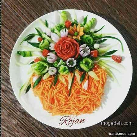 تزیین سالادکاهو,مدل تزیین برنج