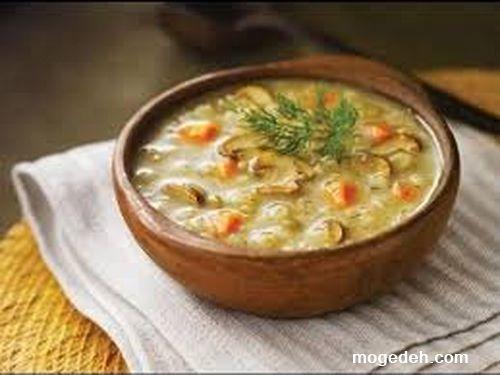 سوپ جو با شیر,سوپ جو رستورانی,سوپ جو ساده