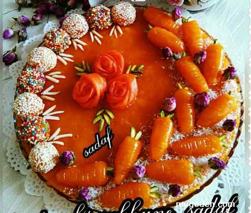 حلوای هویج تبریزی,حلوای هویج رولتی