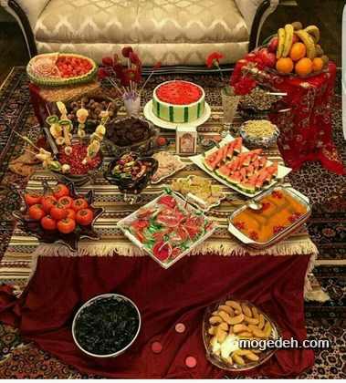 تزیین انار شب یلدا