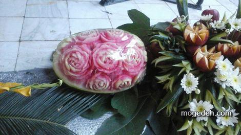 تزیین هندوانه شب یلدا برای عروس