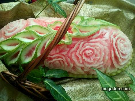 تزیین هندوانه شب یلدا بدون برش