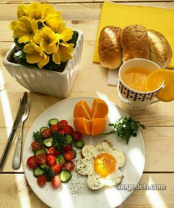 تزیین صبحانه ساده
