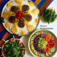 سفره آرایی و تزیین سفره غذا برای مهمانی ۹۶ و ۲۰۱۸