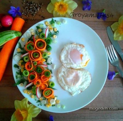 انواع نیمرو برای صبحانه