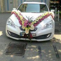 عکس تزیین ماشین عروس شاسی بلند و ساده ایرانی