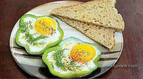 تزیین تخمه مرغ آبپز