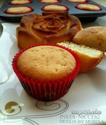 کاپ کیک ساده وانیلی