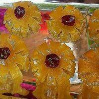 مربای لیمو ترش به شکل گل