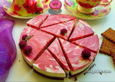طرز تهیه چیز کیک با ژله