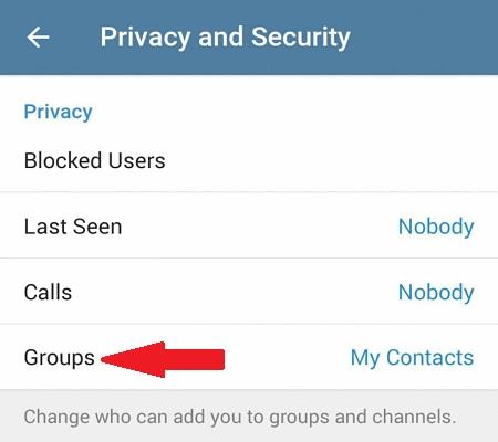 دعوت توسط مخاطبین شما به گروه در تلگرام