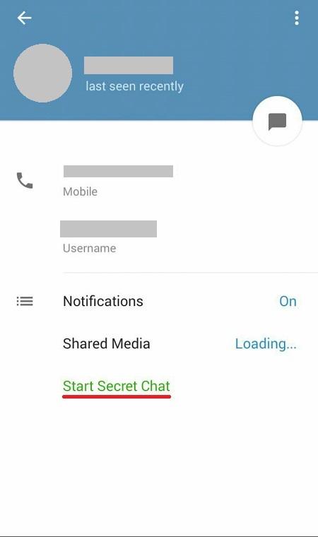 تلگرام secret chat