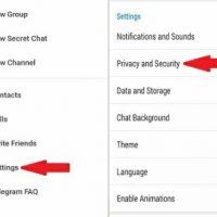 مدیریت نشست های فعال تلگرام