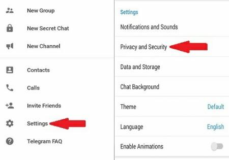 حذف نشست های فعال در تلگرام
