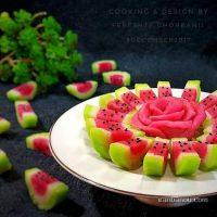 طرز تهیه باسلوق هندوانه ای شکل برای شب یلدا