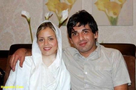 حمید گودرزی و همسرش و فرزندش