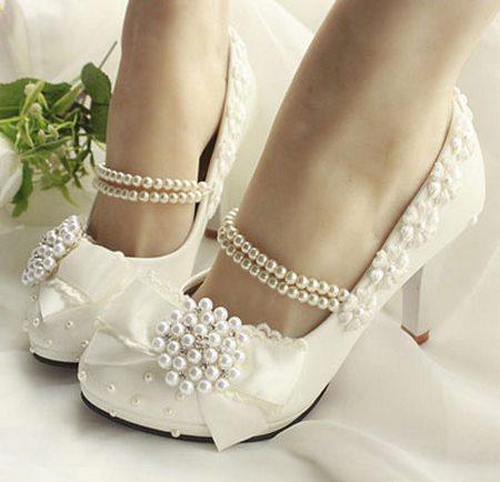 خرید کفش عروس پاشنه کوتاه