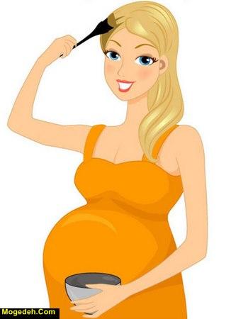 رنگ کردن ابرو در دوران بارداری