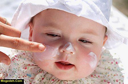 کرم برای خشکی صورت نوزاد
