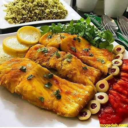 طرز تهیه شوید پلو با ماهی