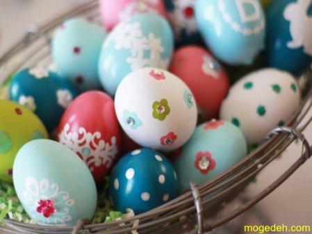 تزیین تخمه مرغ به شکل سگ