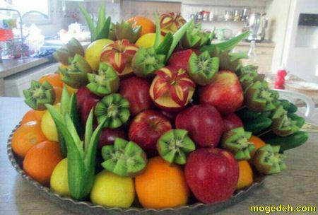 تزیین میوه برای مهمان