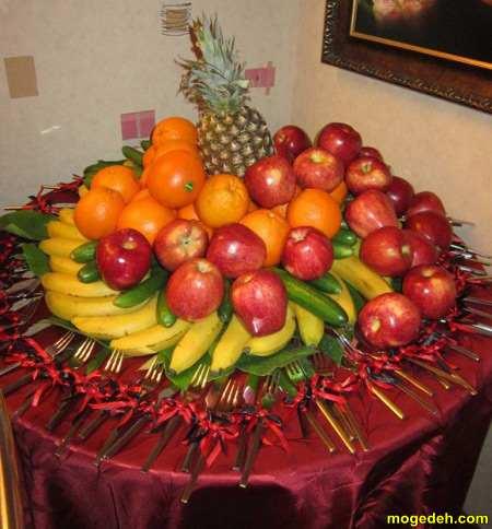 تزیین میوه در ظرف میوه خوری