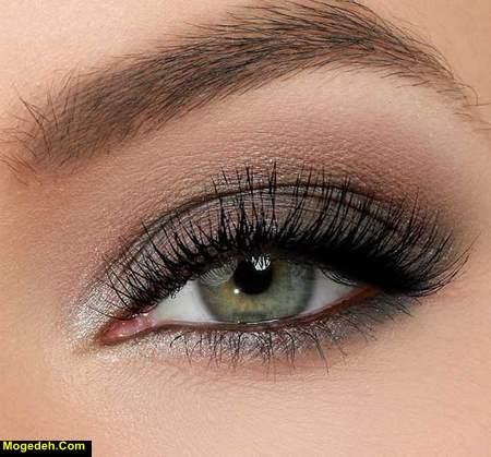 آرایش چشم عسلی رنگ