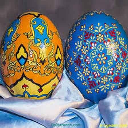 نقاشی تخمه مرغ