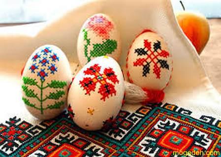 آموزش نقاشی روی تخمه مرغ سفالی