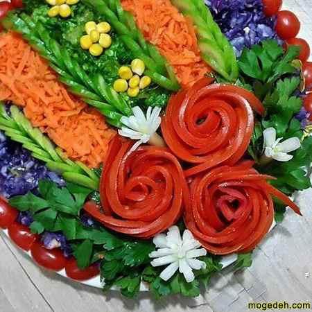 تزئین سالاد برای مهمانی رسمی