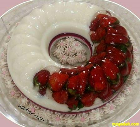 ژله قالبی میوه ای