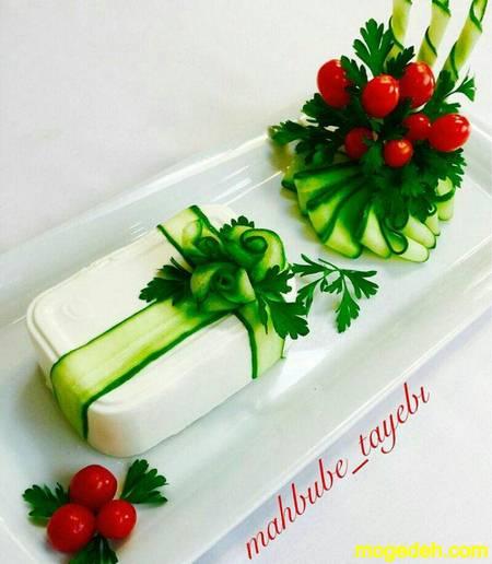 طرز تهیه رولت نان و پنیر و سبزی با نان باگت