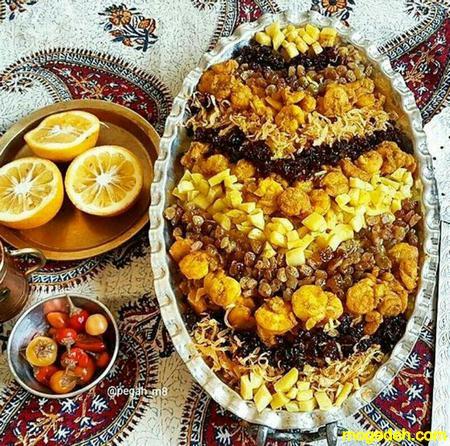 طرز تهیه عدس پلو مجلسی با مرغ