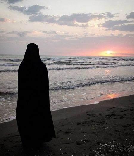 عکس نوشته چادری
