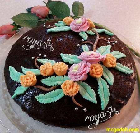 تزیین کیک بدون استفاده از خامه
