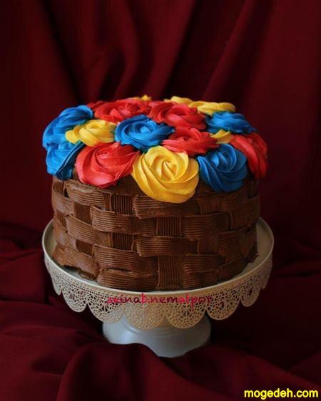 تزیین کیک با میوه بدون خامه