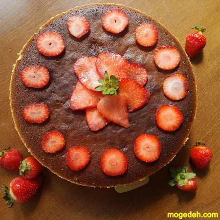 تزیین کیک با خامه و ژله