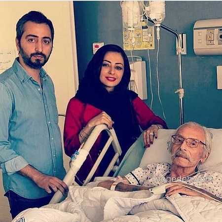 عکس جمشید مشایخی در بیمارستان