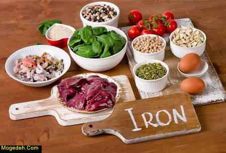 مواد غذایی حاوی آهن فراوان