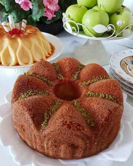 طرز تهیه کیک ساده اسفنجی برای ۶ نفر