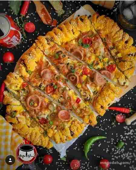 پخت پیتزا در فر برقی